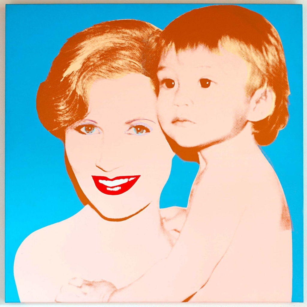 Andy Warhol's 1982 painting of Syz with her then-toddler Marc.